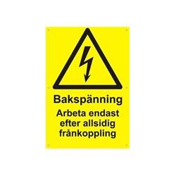 PV varningsskylt
