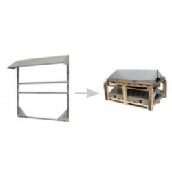 PVshelter wall inverter frame Non-Assembled 319-9-NA