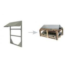 PVshelter wall inverter frame Non-Assembled 319-5-NA