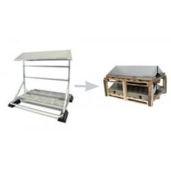 PVshelter wall inverter frame Non-Assembled 319-2-NA